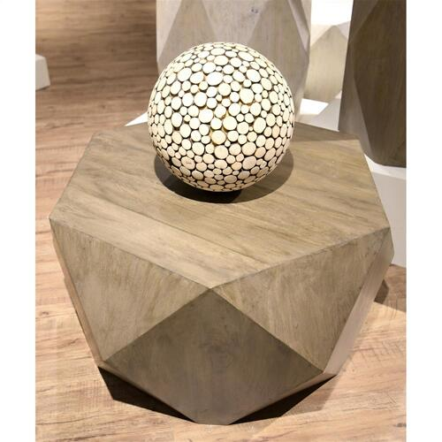 Geometric Coffee Table - Portabella Finish