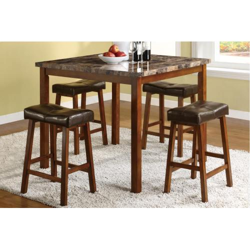 Table + 4 Chairs (counter Height)