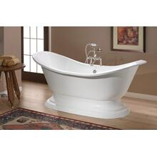 REGENCY Cast Iron Bath with Pedestal Base