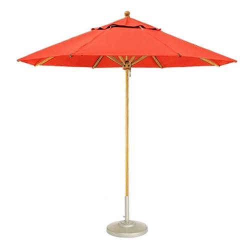 Hex Wood Contract Market Umbrella: 8' Hexagon