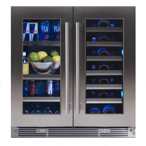 XO APPLIANCE30in Beverage/Wine Double Door SS Glass