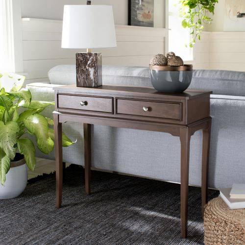 Safavieh - Opal 2 Drawer Console Table - Brown