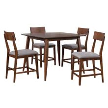 Product Image - Pub Table Dining Set w/Padded Performance Fabric Chairs - Mid Century (5 Piece)