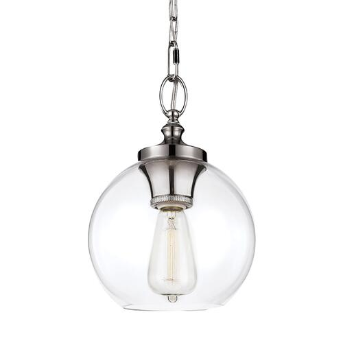 Feiss - Tabby Clear Glass Mini Pendant Polished Nickel