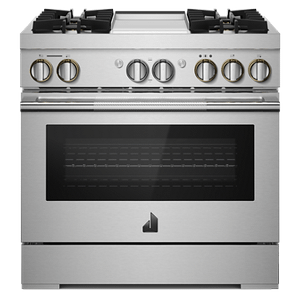 "JennAir  RISE 36"" Dual-Fuel Professional Range with Chrome-Infused Griddle"