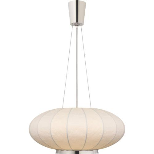 Visual Comfort BBL5122PN-RP Barbara Barry Moon 1 Light 26 inch Polished Nickel Hanging Shade Ceiling Light, Medium