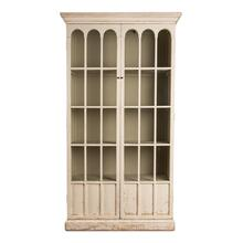 Glass Bookcase, Whitewash