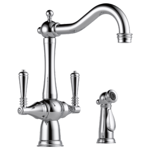 Two-handle Faucet With Side Sprayer Product Image