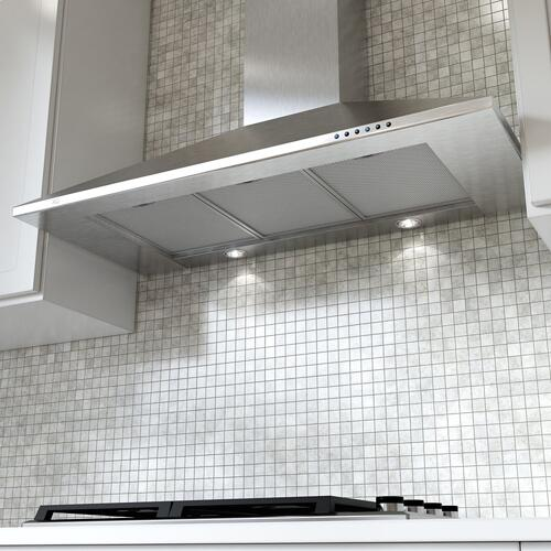 "600 CFM 36"" Italian Made Wall Mount Chimney Range Hood Stainless"