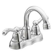Traditional Chrome two-handle high arc bathroom faucet