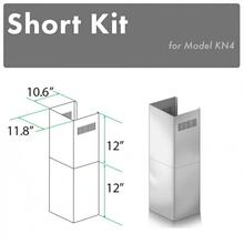 View Product - ZLINE 2-12 in. Short Chimney Pieces for 7 ft. to 8 ft. Ceilings (SK-KN/KN4)