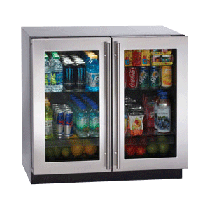 "Stainless Double Door Modular 3000 Series / 36"" Glass Door Refrigerator / Dual Zone Convection Cooling System"