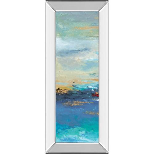 """""""Sea Mystery Panel I"""" By Patricia Pinto Mirrored Framed Print Wall Art"""