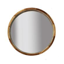 """See Details - 24"""" Round Mirror, Brown"""