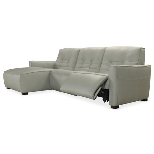 Reaux Power Motion Sofa w/ LAF Chaise w/2 Power Recline