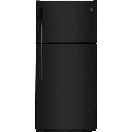 GE® Energy Star 18 Cu. Ft. Top-Freezer Refrigerator Black - GTE18FTLKBB