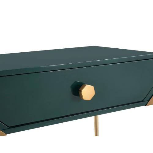 Bajo Green Lacquer Side Table