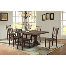 Finn 7pc Dining Set in a Smokey Walnut finish           (ELE-100D)