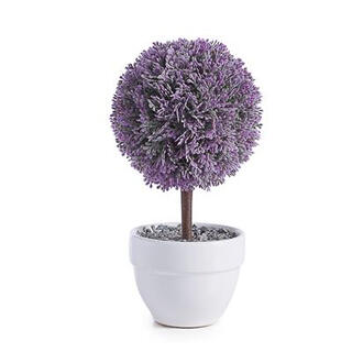 "Jardin 10"" Potted Faux Topiary - Lavender Ball"