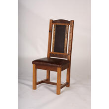 View Product - Sequoia Side Chair With Leather Seat