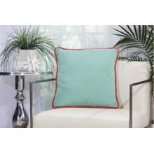 "Outdoor Pillows L1590 Aqua Turquoise 20"" X 20"" Throw Pillow"