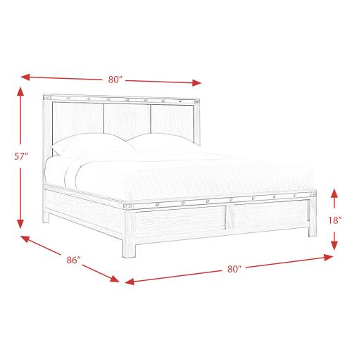 Wade King Panel Bed