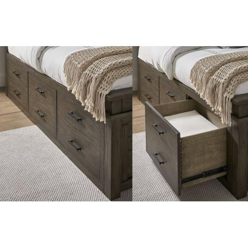 Glacier Point Queen Captain Storage Bed