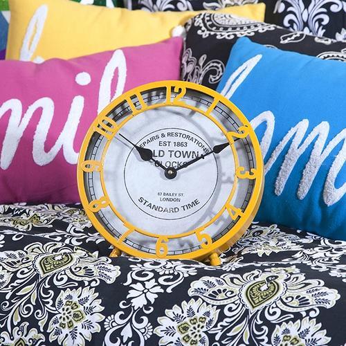Essentials Mellow Yellow Desk Clock