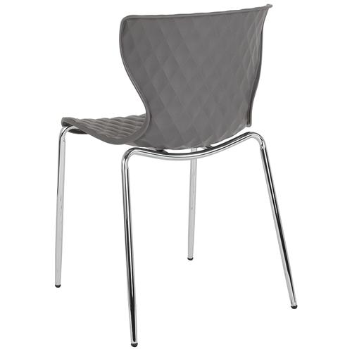 Flash Furniture - Lowell Contemporary Design Gray Plastic Stack Chair