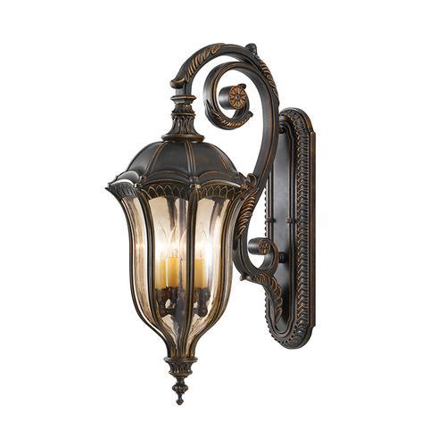 Baton Rouge 4 - Light Wall Lantern Walnut
