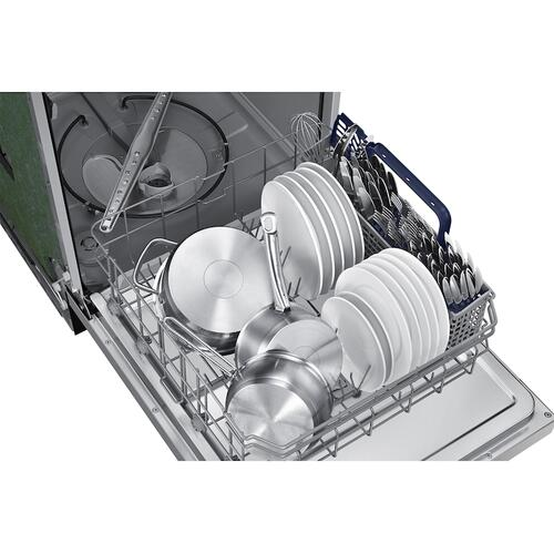 Front Control 51 dBA Dishwasher with Hybrid Interior in Stainless Steel