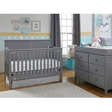 Fisher-Price Colton Convertible Crib, Stormy Grey