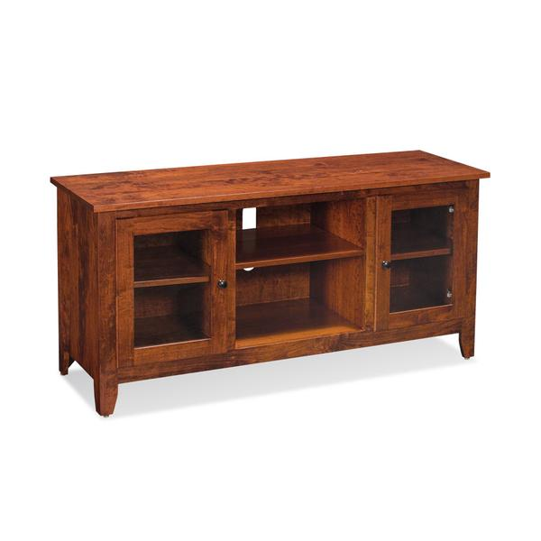 """Shenandoah TV Console with Glass Doors and Open Center, Shenandoah TV Console with Glass Doors and Open Center, 54"""""""