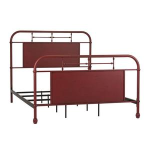 Liberty Furniture Industries - Twin Metal Bed - Red
