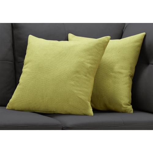 """Gallery - PILLOW - 18""""X 18"""" / PATTERNED LIME GREEN / 2PCS"""