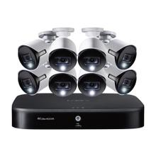4K Ultra HD 8-Channel Security System with 2 TB DVR and Eight 4K Ultra HD Bullet Security Cameras with Color Night Vision , Active-Deterrence, and Smart Home Voice Control