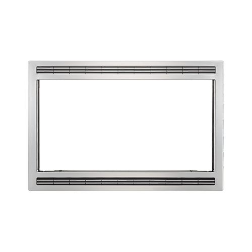 Frigidaire - Frigidaire Black/Stainless 27'' Microwave Trim Kit