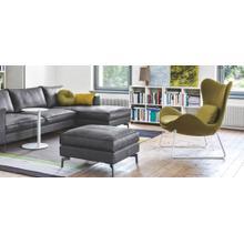 PU foam design armchair with metal base