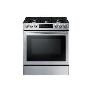 5.8 cu. ft. Slide-in Gas Range with Convection in Stainless Steel - STAINLESS STEEL