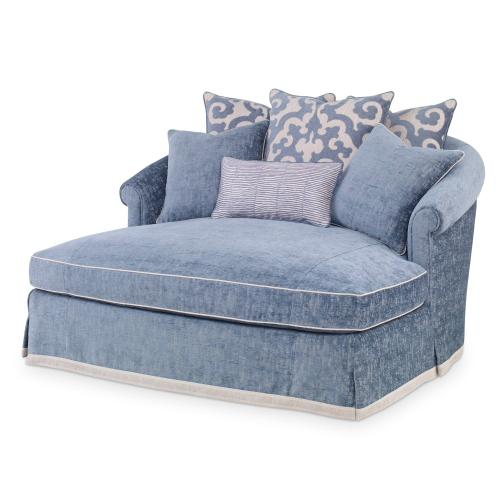 Josephine Double Chaise - Skirted