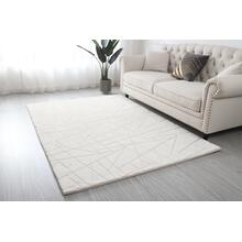 "Metallica Area Rug Collection - 7'8"" x 10'4"" / White / Lines"