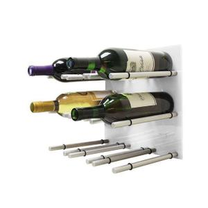 9 Bottle Acrylic Peg Wine Racks (White)