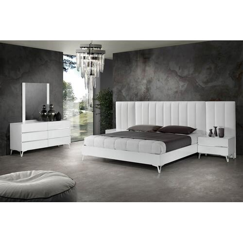 Nova Domus Angela - Italian Modern White Eco Leather Bed