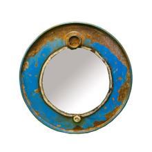 WA-0271-BU Cobalt Steam Punk Barrel Mirror