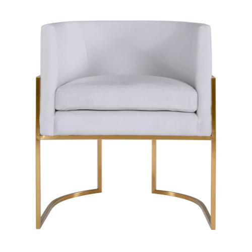 Tov Furniture - Giselle Grey Velvet Dining Chair - Gold Frame