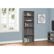 "BOOKCASE - 72""H / GREY WITH 5 SHELVES"