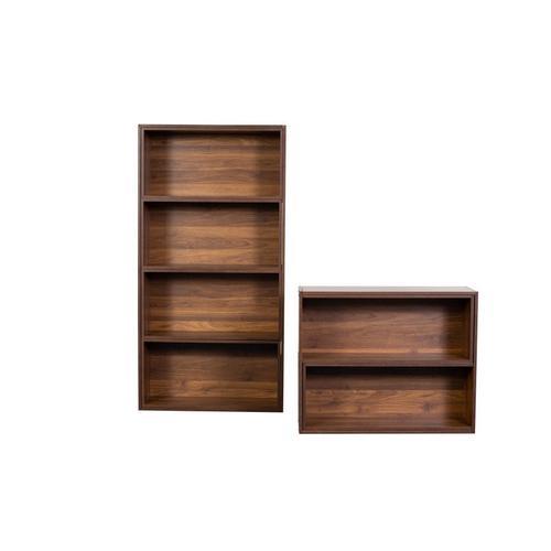 Slide Logic Walnut Bookcase, M-CB-OF-A050-CW-3