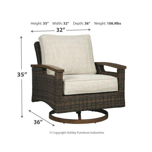 Paradise Trail Swivel Lounge Chair (set of 2)