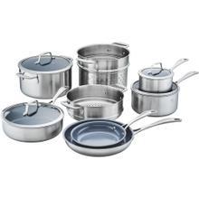 ZWILLING Spirit Ceramic Nonstick 3-ply 12-pc Stainless Steel Ceramic Nonstick Cookware Set