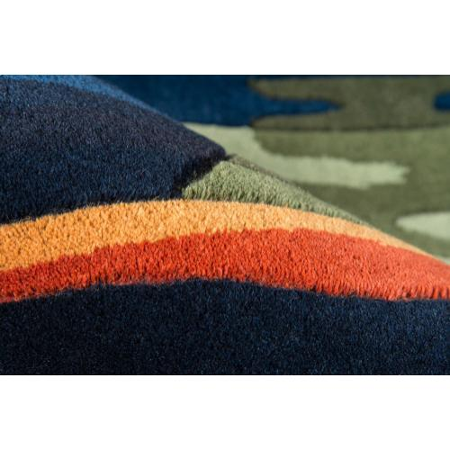New Wave Nw-013 Gabbeh Navy - 2.6 x 8.0 Runner